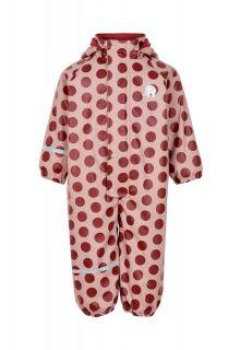 CeLaVi---Regenpak-met-fleece-voor-meisjes---Dots---Roze