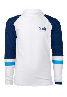 JUJA---UV-Zwemshirt-voor-jongens---lange-mouwen---Colorblock---Wit