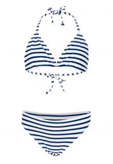 JUJA---Bikini-voor-meisjes---Stripy---Wit/Blauw