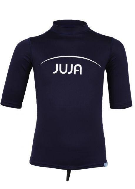 JuJa - UV-zwemshirt korte mouwen kinderen - donkerblauw - Voorzijde