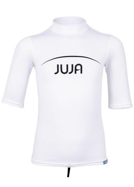 JuJa - UV-zwemshirt korte mouwen kinderen - wit - Voorzijde