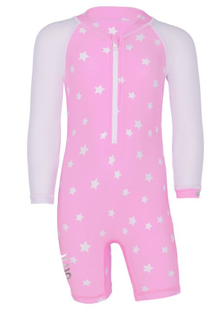 JUJA---UV-Zwempak-voor-baby's---lange-mouwen---Stars---Roze