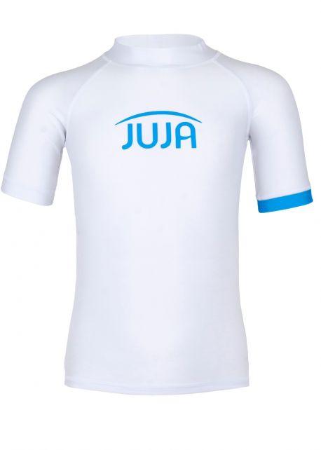 JUJA---UV-Zwemshirt-voor-kinderen---korte-mouwen---Solid---Wit