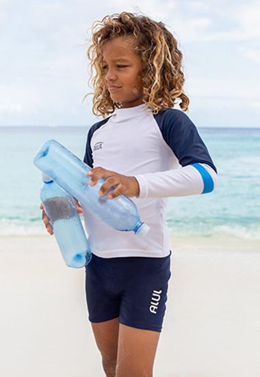 Jongens gerecyclede UV-beschermende zwemkleding